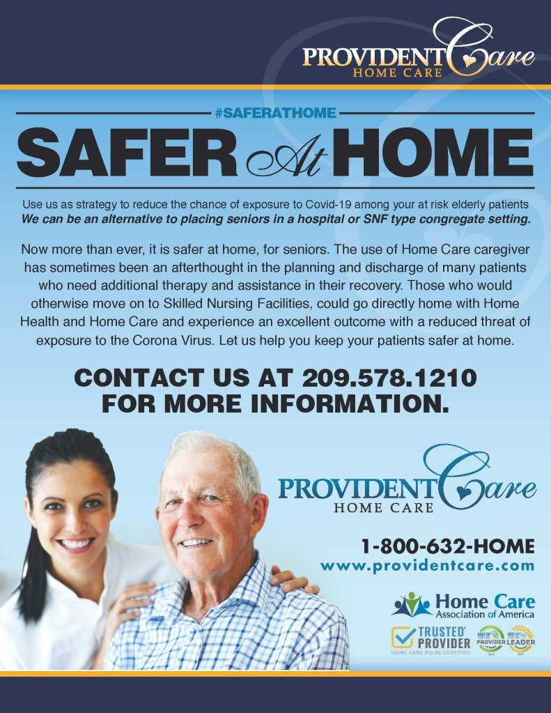 Provident Care Announces It's New STAY AT HOME Strategy for Seniors